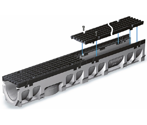 trench drains with light to ultra heavy duty cast-iron edge rails
